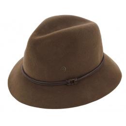 Traveller Hat Emmet Brown Wool Felt Hat - Barts