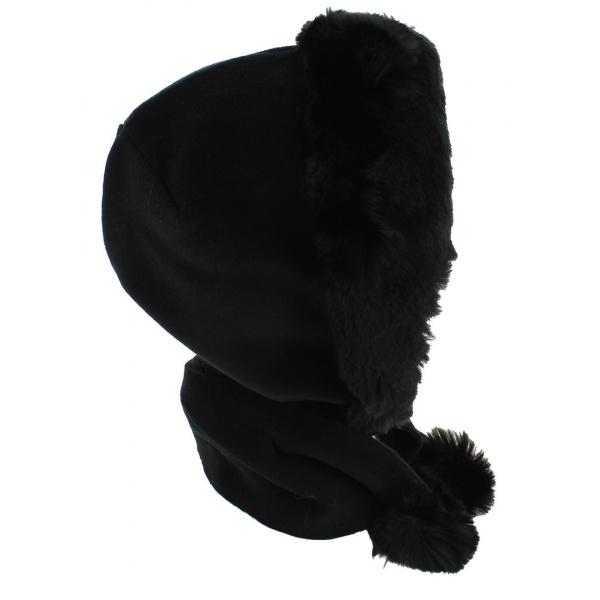 Capuche Norell Polaire & Fausse Fourrure Noir - Traclet