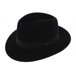 Chapeau Fédora Toledo Feutre Poil Noir - Stetson