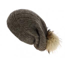 Bonnet Long Lachenal Laine & Mohair Marron - Traclet