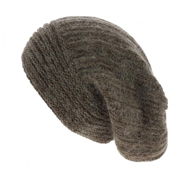 Bonnet Long Whistler Laine & Mohair Marron - Traclet