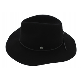 Chapeau Traveller The Dex Feutre Laine Noir - Coal