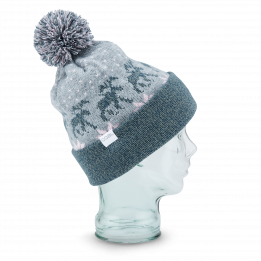 Bonnet Pompon The Lodge Style Jacquard Gris - Coal