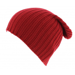 Bonnet cachemire rouge - Bergeron creation