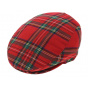 Red plaid cap