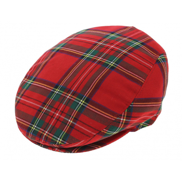 Red plaid cap