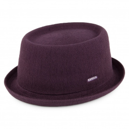 Chapeau Pork Pie Bambou Mowbray prune KANGOL