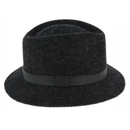 Traveller Hat Blarney Wool Harris Tweed Anthracite - Traclet