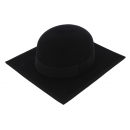 Chapeau Carré Stanford Feutre Laine Noir - Traclet