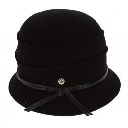 Chapeau Cloche Diamante Feutre Laine Noir - Traclet
