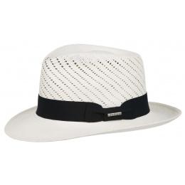 Chapeau Fédora Sutton Panama blanchie - Stetson