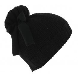 Bonnet Alcina Laine & Acrylique Noir - Traclet