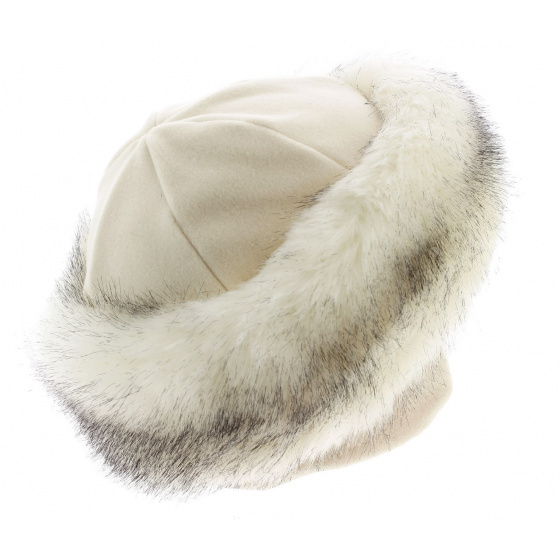 TOQUE CHAMONIX WHITE FUR