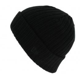 Mixed Ribbed Cuff Acrylic Cap Black - New Era