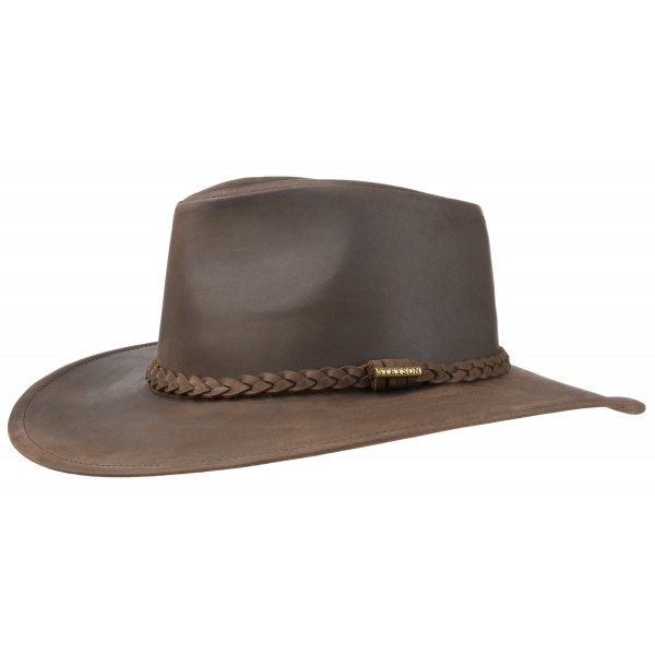 nouvelles promotions prix favorable matériaux de haute qualité Chapeau Annville Cuir Stetson marron