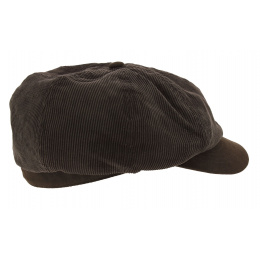 Casquette Arnold Winkle Style Velours Marron - Aussie Apparel