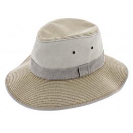 Durban Cotton Beige Safari Hat - Crambes