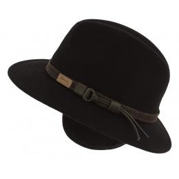 Chapeau Traveller McGofer Cache-Oreilles Feutre Laine Noir - Herman