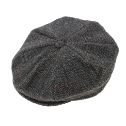 Casquette irlandaise  Octagon gris - Hanna hats