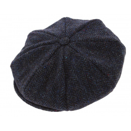 dark blue herringbone irish cap - made in Ireland