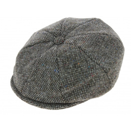 Casquette Irlandaise Foxford Laine Tweed Gris - Hanna Hats