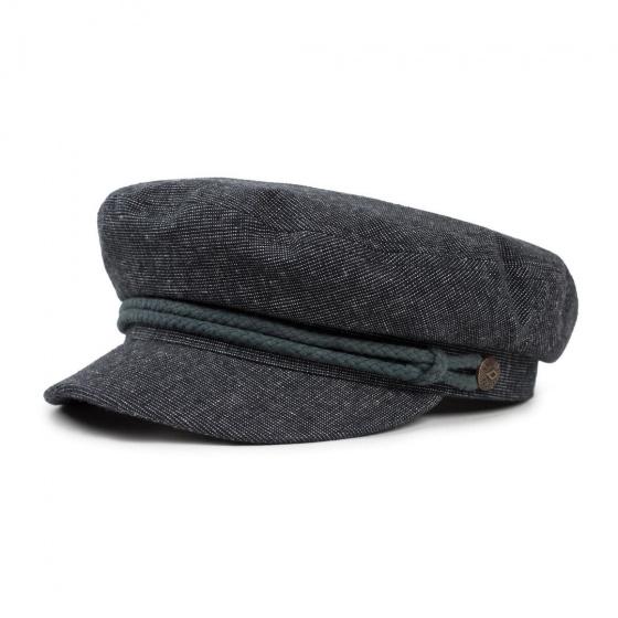 Fiddler Slate Linen & Cotton Navy Cap - Brixton