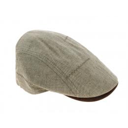 Daffy Zigzag Natural Flat Cap