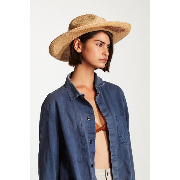 Chapeau Style Capeline Jenna Raphia Naturel - Brixton