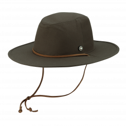 Chapeau Traveller The Wayfarer Coton Olive - Coal