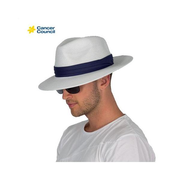 Chapeau Fédora Gentleman Blanc  - Rigon Headwear