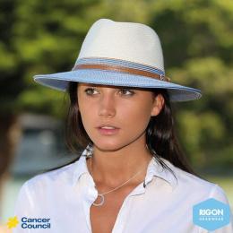 Chapeau Fédora Bicolore Noir et blanc - Rigon Headwear