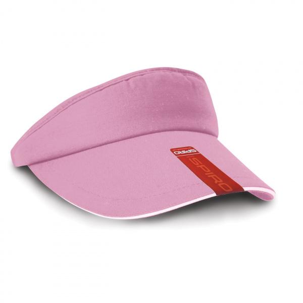 Visor Cap Cotton Pink