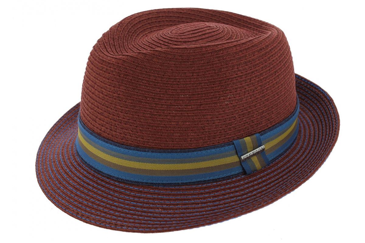 34a9d52ce4f Hat Angleton Raphia Stetson red par Stetson