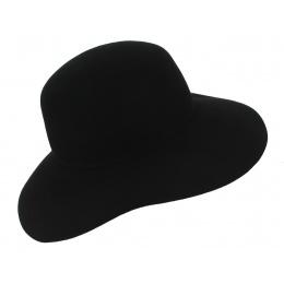"""Marc Veyrat"""" Style Hat Black Wool Felt - Traclet"""