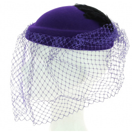 Chapeau Forme Amandine violet Made in France