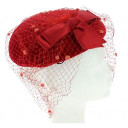 Chapeau de Gala EDY PARIS Rouge