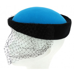 Tambourin bleu turquoise / noir