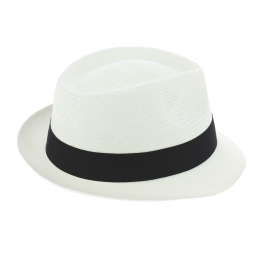 Chapeau Trilby Corsica Panama Blanchi - Traclet