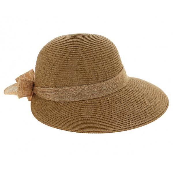 Chapeau De Soleil Clara Paille Papier Camel - Traclet
