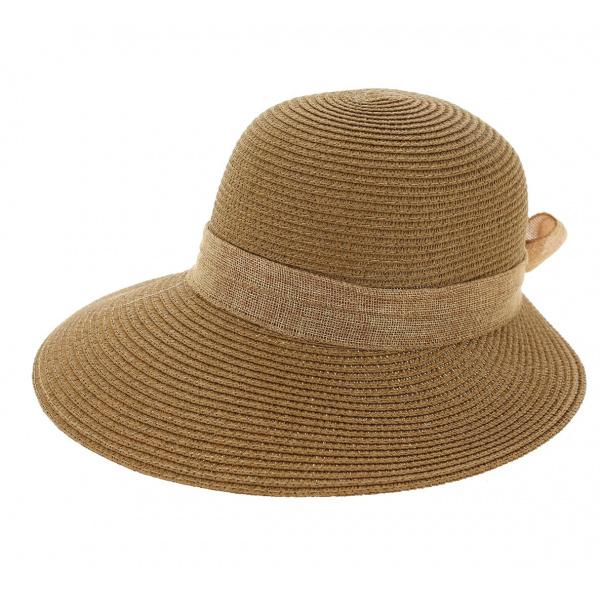 Chapeau De Soleil Cara Paille Papier Camel - Traclet