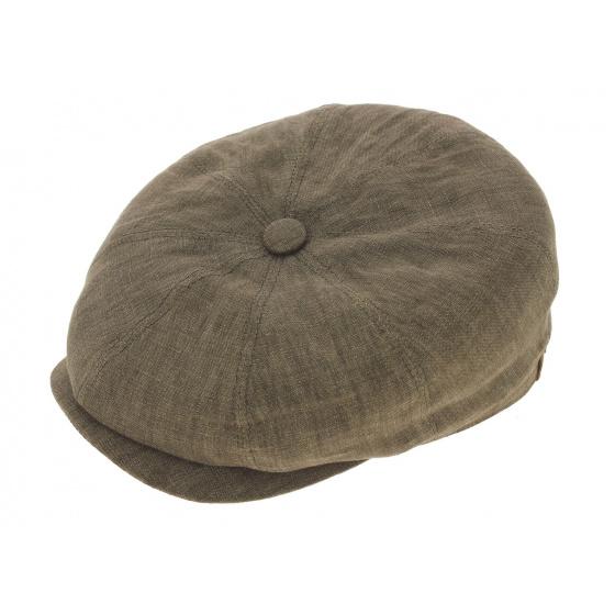 Casquette hatteras lin marron Stetson
