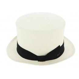 Chapeau Haut de Forme Panama Blanc - Fléchet