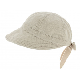 Angelina Anti-Uv Cotton Beige Cap - Mayser