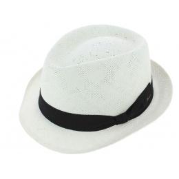 Chapeau Trilby Navagio Paille Papier Blanc - Fléchet