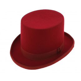 Chapeau haut de forme - Rouge Hermès
