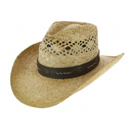Cowboy Stagecoach Natural Straw Cowboy Hat - Traclet
