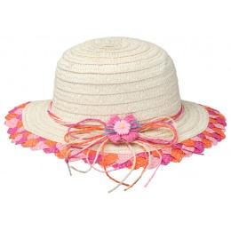 Chapeau Cloche Enfant Havana Paille Papier Rose - Barts