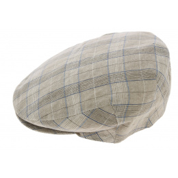 Piedmont Linen & Cotton Beige Flat Cap - Crambes