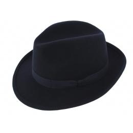 Chapeau Fédora Feutre Laine Marine - Traclet