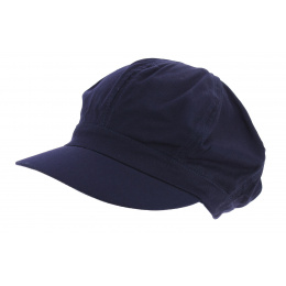 Gavroche Cap Navy Blue Cotton - Traclet